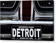 Imported From Detroit Acrylic Print by Dennis Hedberg
