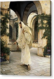 In His Constant Care Acrylic Print by Greg Olsen