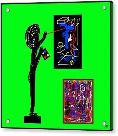 In His Elements Acrylic Print by Sir Josef - Social Critic - ART