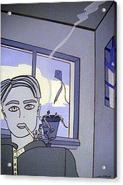 In The Blue Acrylic Print by Cynthia Hilliard