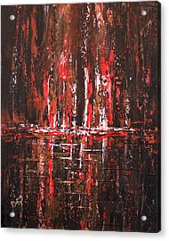 Acrylic Print featuring the painting In The Heat Of The Night by Patricia Lintner