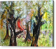 In The Woods Acrylic Print by Evelina Popilian