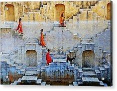 India, Rajasthan, Jaipur, Water Tank Acrylic Print