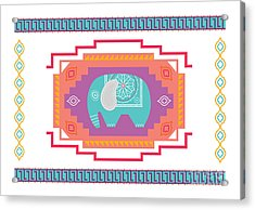 Indian Elephant Acrylic Print