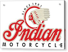 Indian Motorcycle Logo Acrylic Print
