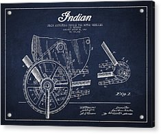 Indian Motorcycle Patent From 1902 Acrylic Print