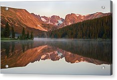 Indian Peaks At Sunrise Acrylic Print