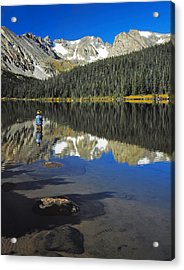 Indian Peaks Wilderness Area, Colorado Acrylic Print by Robert and Jean Pollock