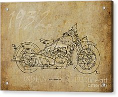 Indian Scout 1932 Acrylic Print