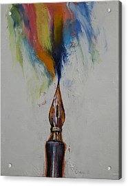 Ink Acrylic Print by Michael Creese