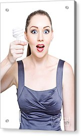 Innovative Business Woman With Efficient Ideas Acrylic Print