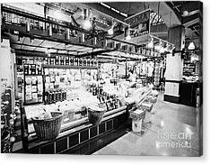 inside lonsdale quay market shopping mall north Vancouver BC Canada Acrylic Print by Joe Fox
