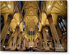 Inside St Patricks Cathedral New York City Acrylic Print