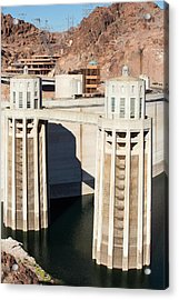Intake Towers For The Hydro Plant Acrylic Print by Ashley Cooper