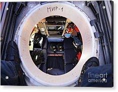 Interior Of Mir-1 Submersible Acrylic Print by RIA Novosti