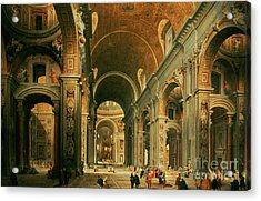 Interior Of St Peters In Rome Acrylic Print
