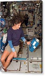 International Space Station Air Sampling Acrylic Print by Nasa