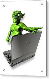 Internet Troll Acrylic Print by Victor Habbick Visions
