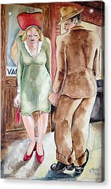 Intrigue Acrylic Print by Maxwell Mandell