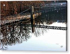 Iowa Falls Swinging Bridge  Acrylic Print