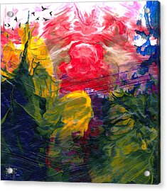 Acrylic Print featuring the painting Irascible by Ron Richard Baviello