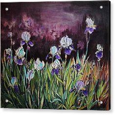 Iris In My Backyard Acrylic Print