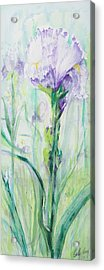 Acrylic Print featuring the painting Iris Number One by Cathy Long