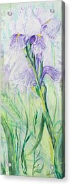 Acrylic Print featuring the painting Iris Number Three by Cathy Long