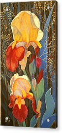 Acrylic Print featuring the painting Irises by Marina Gnetetsky