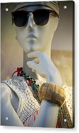 Is This Who I Am Acrylic Print by Jez C Self