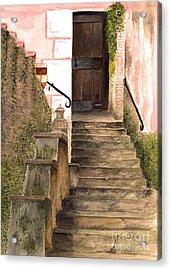 Italian Doorway Acrylic Print by Nan Wright