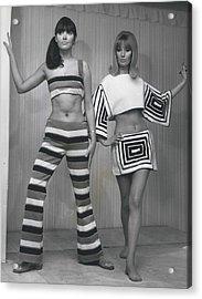 Italian Knitwear Fashion Show In Londoan Acrylic Print by Retro Images Archive