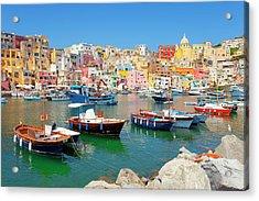 Italy, Procida Island, Corricella Acrylic Print by Frank Chmura