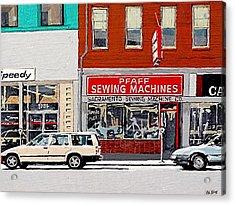 J Street Acrylic Print by Paul Guyer