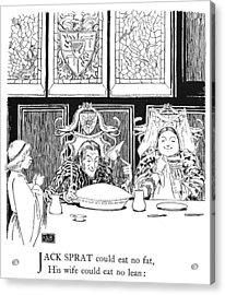 Jack Sprat, 1898 Acrylic Print