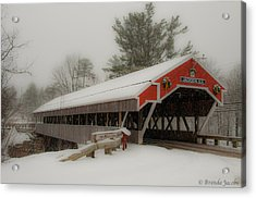 Jackson Nh Covered Bridge Acrylic Print