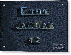 Jaguar E Type 4.2 Logo Acrylic Print