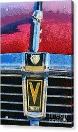 Jaguar V12 Badge Acrylic Print