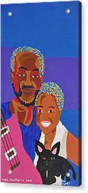 Acrylic Print featuring the painting James And Monique by Erika Chamberlin