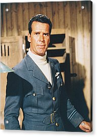 James Garner In The Great Escape Acrylic Print by Silver Screen