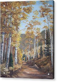Cathedral Of The Aspens Acrylic Print by Frances Lewis