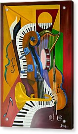 Jammin With Jc Acrylic Print by Brien Cole