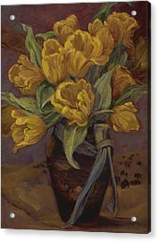 Yellow Tulips- And Buffalo Dreams Acrylic Print