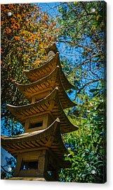 Japanese Shrine In The Garden Acrylic Print