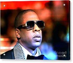 Jay Z Acrylic Print by Marvin Blaine