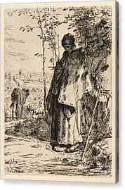 Jean-françois Millet French, 1814 - 1875. Shepherdess Acrylic Print