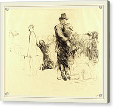 Jean-louis Forain, Lourdes, Transport Of The Paralyzed Acrylic Print