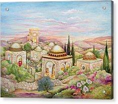Jerusalem Landscape Acrylic Print by Michoel Muchnik