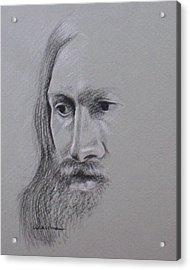 Jesus Acrylic Print by Kathy Weidner