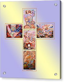 Jesus Of Advent B Y Acrylic Print by Aswell Rowe